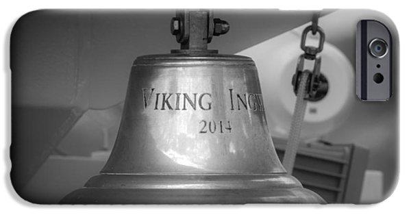 Upper Deck iPhone Cases - Brass Bell Viking Ingvi 2014 iPhone Case by Teresa Mucha