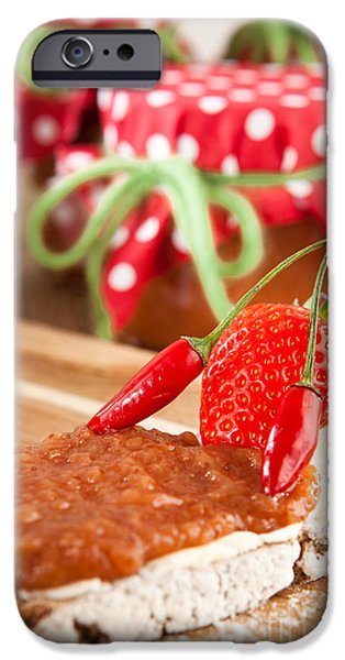 Diy iPhone Cases - Bread with chili and strawberry iPhone Case by Wolfgang Steiner
