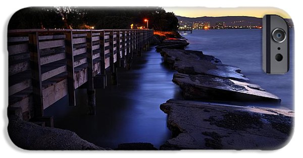 Bay Bridge iPhone Cases - Break Water SFO iPhone Case by Kevin  Ellis