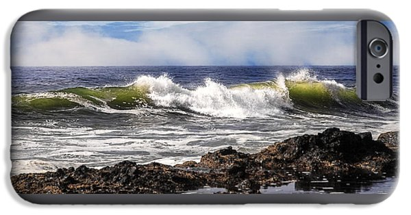 Fury iPhone Cases - Breakers D9283 iPhone Case by Wes and Dotty Weber