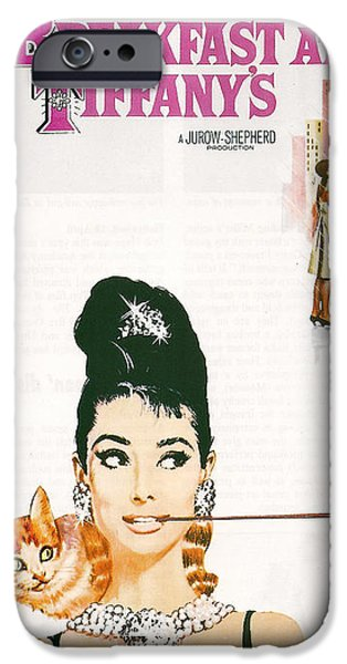 Blake iPhone Cases - Breakfast At Tiffanys iPhone Case by Nomad Art And  Design