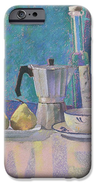Food And Beverage Pastels iPhone Cases - Breakfast for WK iPhone Case by Simon Fletcher