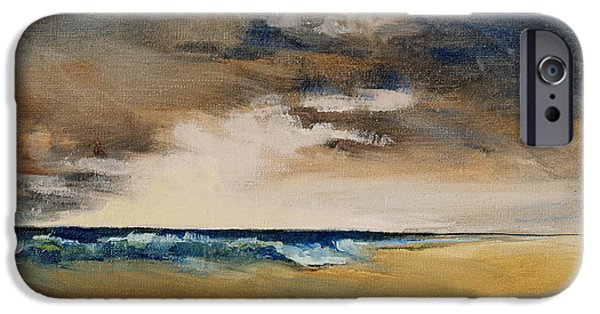 Storm Clouds Cape Cod iPhone Cases - Breaking iPhone Case by Andrea Petitto