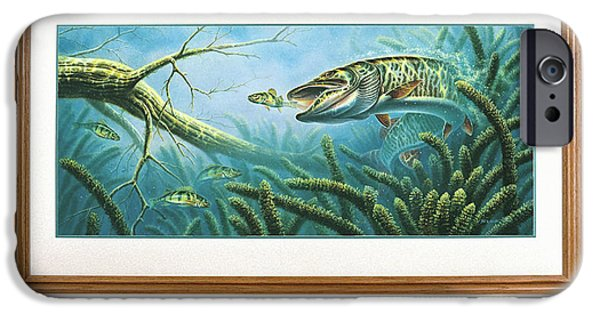 Musky Paintings iPhone Cases - Breakline Hunter Musky iPhone Case by JQ Licensing