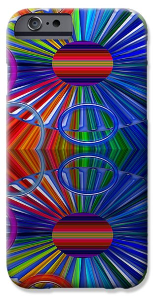 Abstract Forms iPhone Cases - Breaks iPhone Case by Tina M Wenger