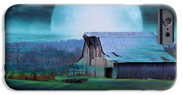 Tennessee Hay Bales iPhone Cases - Breath Of Winter iPhone Case by Jan Amiss Photography