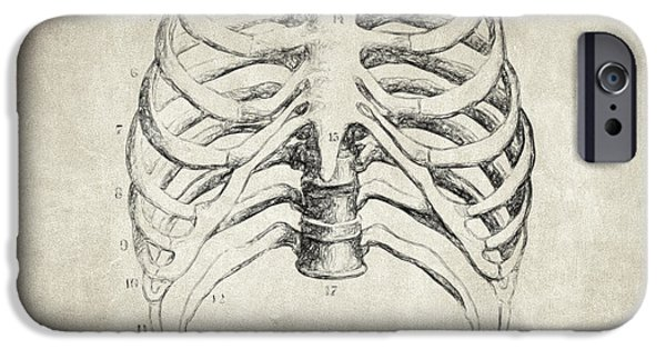 Skeleton Drawings iPhone Cases - Breathe Quote iPhone Case by Taylan Soyturk