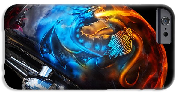 Airbrush iPhone Cases - Breathing Fire iPhone Case by Gill Billington