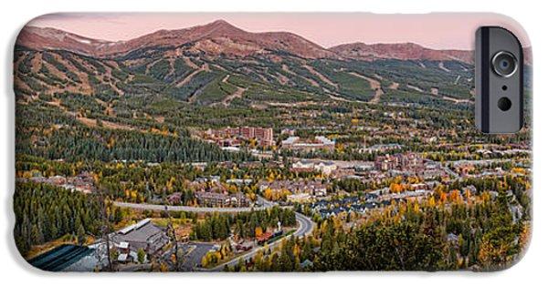 Fall iPhone Cases - Breckenridge Panorama at Twilight - Fall Season Rocky Mountains Colorado iPhone Case by Silvio Ligutti