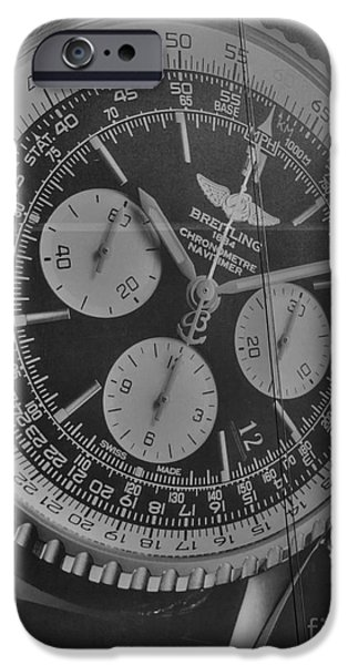 Chronometer iPhone Cases - Breitling Chronometer iPhone Case by David Bearden