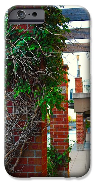 Balcony iPhone Cases - Brick and Ivy iPhone Case by Jackson ElRite