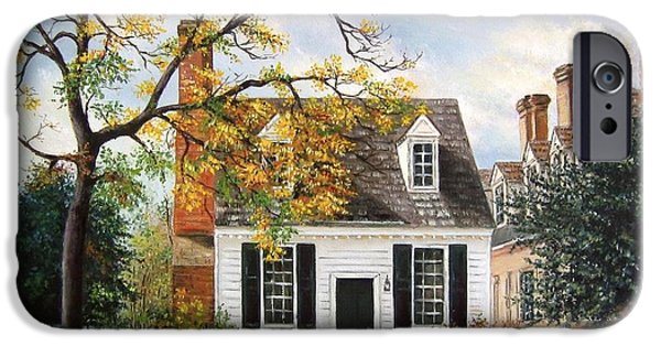 Yorktown Virginia iPhone Cases - Brick House Tavern Shop iPhone Case by Gulay Berryman