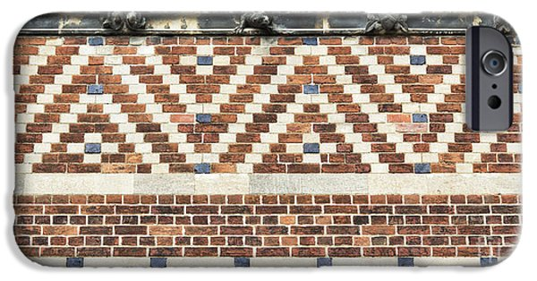 Brick iPhone Cases - Brick Wall Pattern Oxford iPhone Case by Tim Gainey