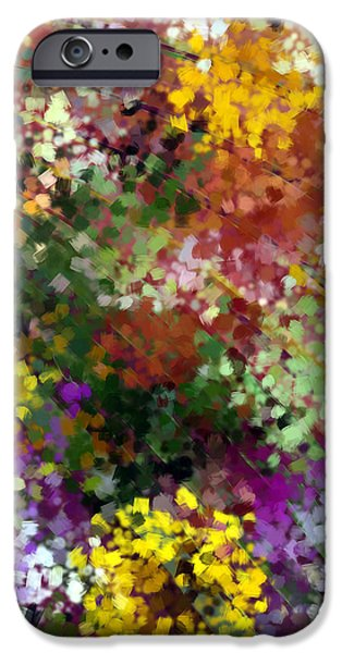 Abstract Digital Tapestries - Textiles iPhone Cases - Bridal Bouquet iPhone Case by Suzi Freeman