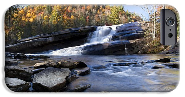 Veiled iPhone Cases - Bridal Veil Falls in Dupont State Park NC iPhone Case by Dustin K Ryan