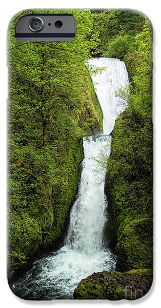 States iPhone Cases - Bridal Veil Falls iPhone Case by Jon Burch Photography