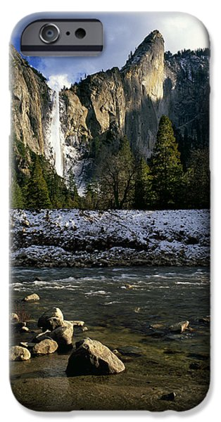 Cathedral Rock iPhone Cases - Bridalveil Fall iPhone Case by Brad Kazmerzak
