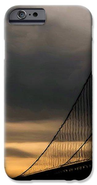 Bridge In Oil iPhone Case by Thomas  MacPherson Jr