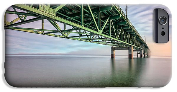 Beach iPhone Cases - Bridge into the Fog iPhone Case by Matt Hammerstein