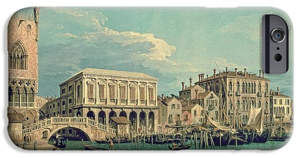 Venetian Canals iPhone Cases - Bridge of Sighs iPhone Case by Canaletto