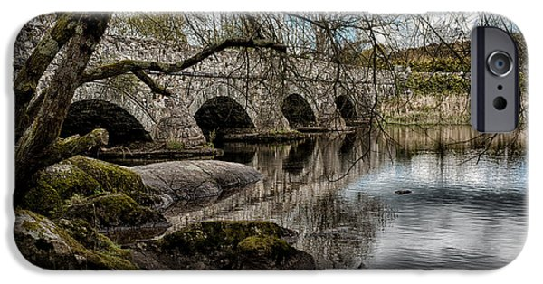 Old North Bridge iPhone Cases - Bridge Over Llyn Padarn iPhone Case by Amanda And Christopher Elwell