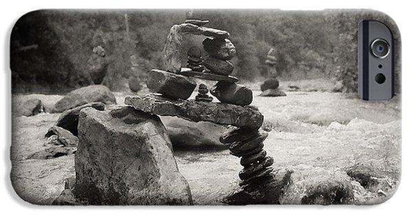 River Sculptures iPhone Cases - Bridge over the River iPhone Case by Kai Drachenberg