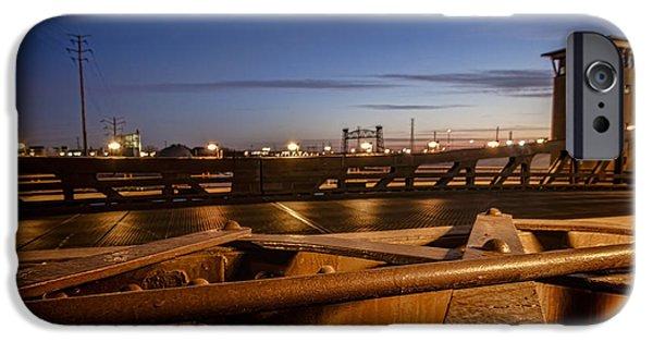 Ewing iPhone Cases - Bridge scene at dawn  iPhone Case by Sven Brogren