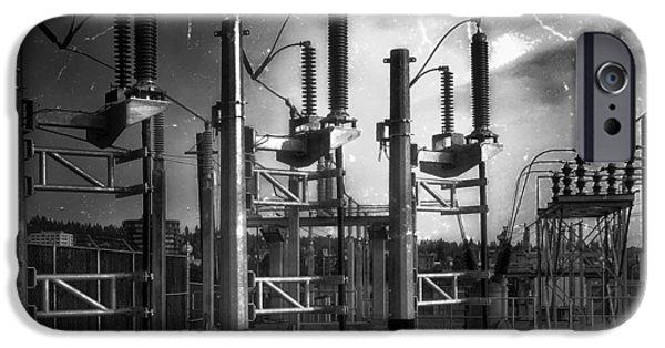 Power iPhone Cases - Bridge St Power Substation 2 - Spokane Washington iPhone Case by Daniel Hagerman