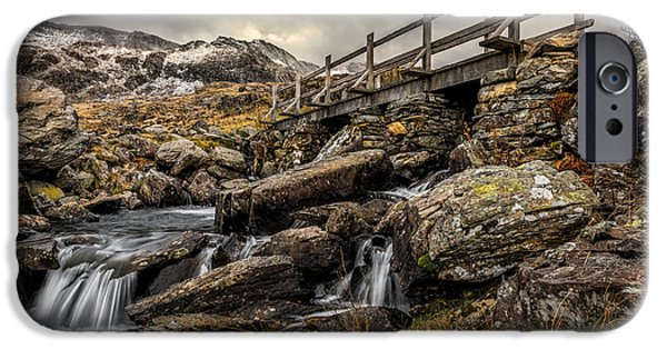 Walkway Digital iPhone Cases - Bridge to Moutains iPhone Case by Adrian Evans