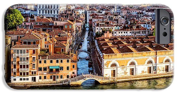 Buildings iPhone Cases - Bridges of Venice iPhone Case by Maria Coulson