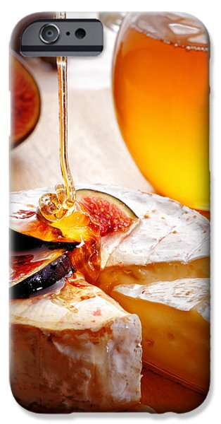 Drip iPhone Cases - Brie Cheese with Figs and honey iPhone Case by Johan Swanepoel