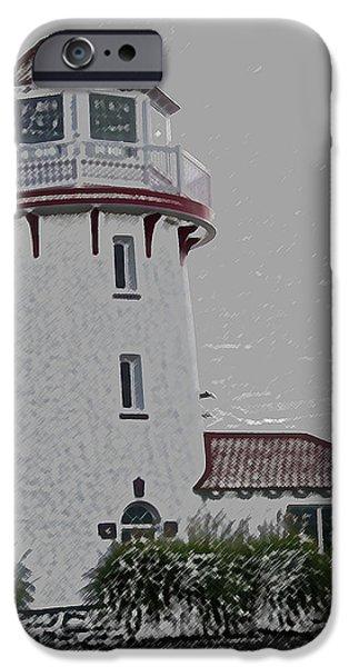 Lighthouse iPhone Cases - Brigantine Lighthouse iPhone Case by Trish Tritz