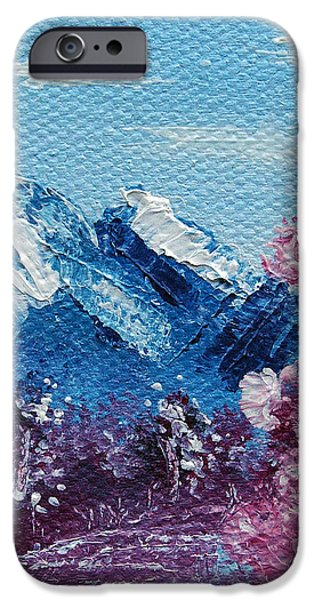 Bright Blue Mountains iPhone Case by Jera Sky