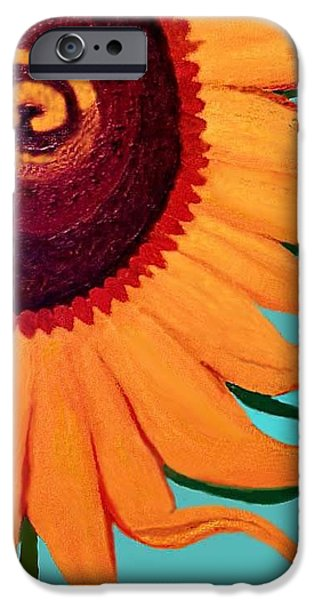 Agriculture iPhone Cases - Bright Happy Sunflower iPhone Case by Margaret Harmon