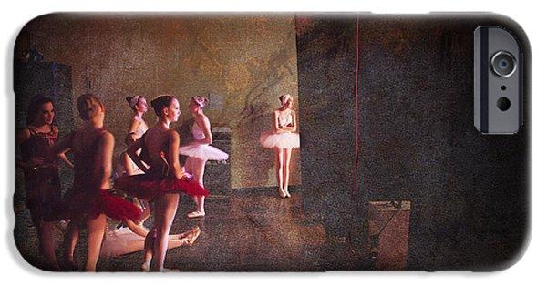 Ballet Dancers iPhone Cases - Bright Light Swans iPhone Case by Craig J Satterlee