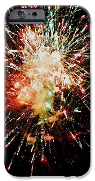 Fireworks iPhone Cases - Bright Lights Over The Thames iPhone Case by Richard Andrews