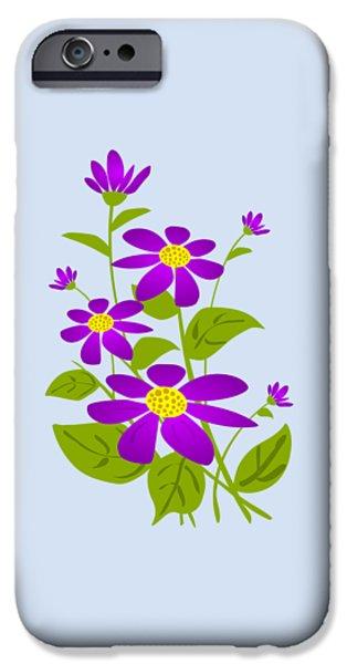 Summer Digital iPhone Cases - Bright Purple iPhone Case by Anastasiya Malakhova