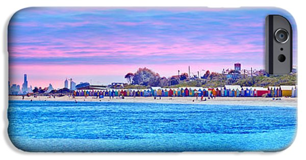 Swans... iPhone Cases - Brighton Beach Sunset iPhone Case by Az Jackson