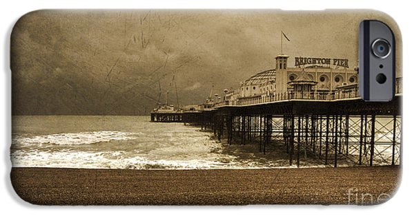 Winter Storm iPhone Cases - Brighton Grand Pier  iPhone Case by Rob Hawkins