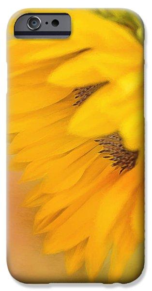 Flora iPhone Cases - Bring Sunshine - Sunflower Art iPhone Case by Jordan Blackstone