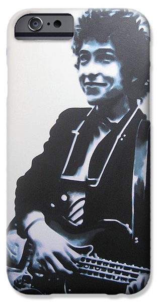Woody Guthrie iPhone Cases - Bringing it all back home iPhone Case by Luis Ludzska