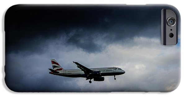 Planes Photographs iPhone Cases - British Airways Jet iPhone Case by Martin Newman