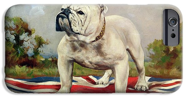 Outside iPhone Cases - British Bulldog iPhone Case by English School