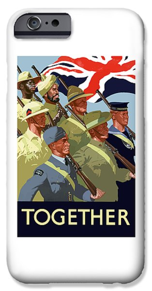 Ww11 iPhone Cases - British Empire Soldiers Together iPhone Case by War Is Hell Store