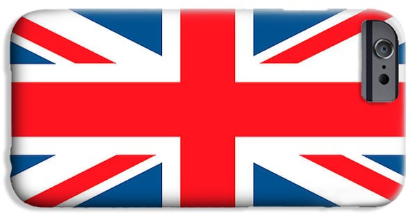 United Paintings iPhone Cases - British Flag iPhone Case by English School