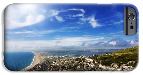 Village iPhone Cases - Portland view high point iPhone Case by Simon Bratt Photography LRPS