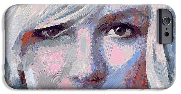 Celebrities Art iPhone Cases - Britney Spears portrait iPhone Case by Yury Malkov