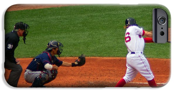 Red Sox iPhone Cases - Brock Holt  iPhone Case by Ray Konopaske