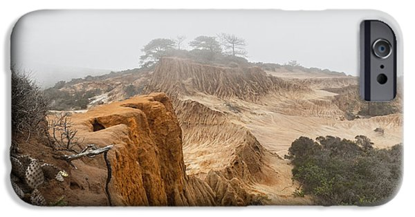 Pines iPhone Cases - Broken Hill in Fog iPhone Case by Joseph Smith