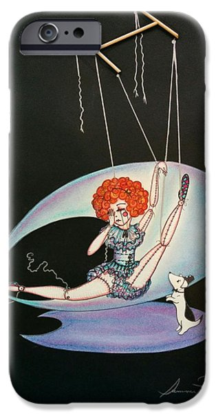 Ballet Dancers iPhone Cases - Broken Marionette  iPhone Case by Summer Porter